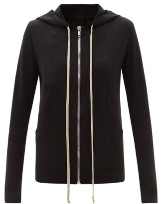 Rick Owens Boiled-cashmere Hooded Sweatshirt - Black