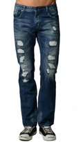 Dinamit Jeans Dinamit Men's Five Pocket Classic Distressed Jeans with a Broken-in Look 36