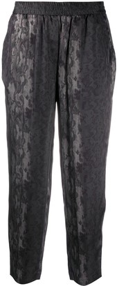 AllSaints Snakeskin-Print Cropped Trousers