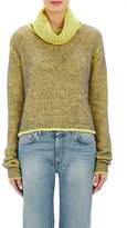 Acne Studios Women's Double-Faced Vasaya Turtleneck Sweater-YELLOW, GREY, NO COLOR