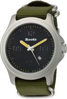 Roots Men's 'Core' Quartz Stainless Steel and Nylon Casual Watch, Color:Green (Model: 1R-LF400BA7G)