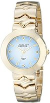 August Steiner Women's AS8157YG Yellow Gold Quartz Watch with Light Blue Dial and Yellow Gold Bracelet