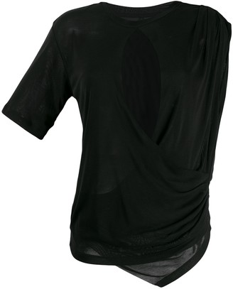 Unravel Project draped T-shirt