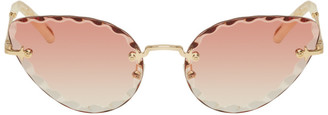 Chloé Gold and Pink Rosie Sunglasses