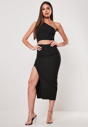 Missguided One Shoulder Cut Out Midaxi Dress