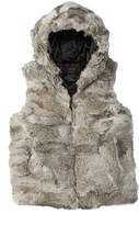 Surell Kids' Grey Hooded Vest