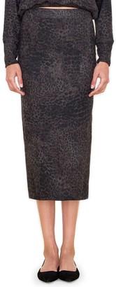 Sundry Leopard Print Skirt