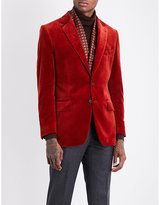 Gieves & Hawkes Regular-fit velvet jacket