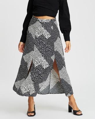Topshop Petite PETITE Spot Midi Skirt
