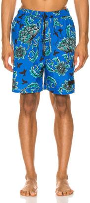 Givenchy Technical Swim Trunks in Ocean Blue | FWRD