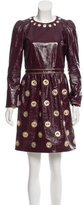 Marc Jacobs Embellished Patent Leather Dress