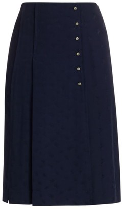 Chloé Pleated Silk Skirt