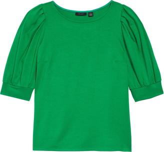Halogen Puff Sleeve Knit Top