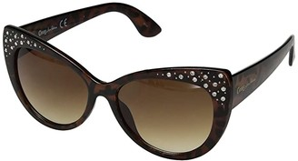 Sam Edelman Plastic Cat Rhinestones (Tortoise) Fashion Sunglasses