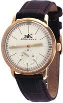Adee Kaye #AK9044-MRG Men's Retro Vintage Rose Gold Tone Leather Band Automatic Watch