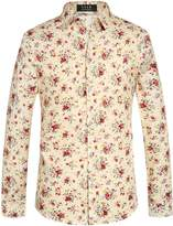 SSLR Men's Casual All Over Print Short Sleeve Shirt