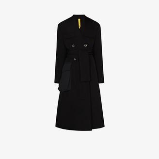 Moncler 2 1952 large pocket belted coat