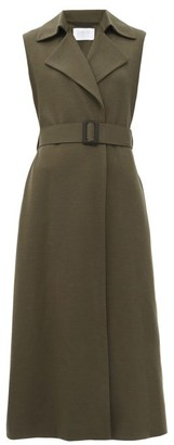 Harris Wharf London Sleeveless Felted-wool Coat - Khaki