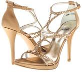 Stuart Weitzman & Evening Collection - Stripstu (Camel Satin) - Footwear