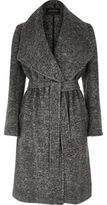 River Island Womens Grey belted robe coat