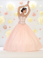 May Queen - Beautiful Laced Bateau Neck Ball Gown LK75