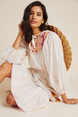 Dacey Embroidered Cover-Up Dress By Saylor NYC in Assorted Size S