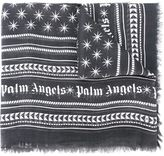 Palm Angels frayed printed scarf