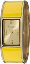 Vernier Gold & Yellow Bangle Watch