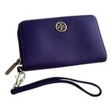 Tory Burch Purple Leather Wallet