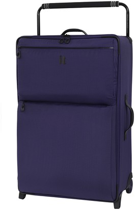 """it Luggage 32.7"""" World's Lightest Wide Handle Design Two Tone 2 Wheel Luggage"""