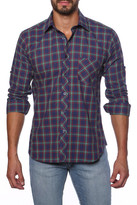 Jared Lang Plaid Semi-Fitted Shirt