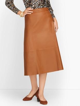 Talbots Leather Midi Skirt