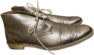 Pierre Hardy Metallic Leather Flats