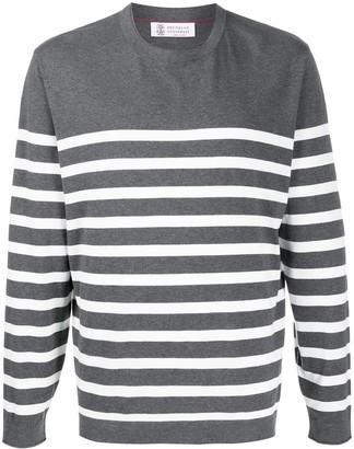 Brunello Cucinelli striped print T-shirt