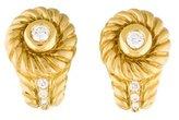 Judith Ripka 18K Diamond Earrings