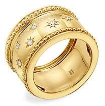 Temple St. Clair Women's Celestial 18K Yellow Gold & Diamond Cosmo Wide Band Ring
