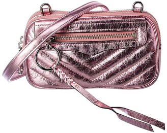 Rebecca Minkoff Double Zip Leather Crossbody