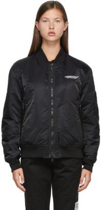 Undercover Reversible Black Nylon Bomber Jacket