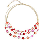 Gloria Vanderbilt Womens Orange Strand Necklace