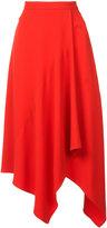 Stella McCartney draped midi skirt - women - Spandex/Elastane/Acetate/Viscose - 40