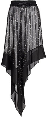 Sacai Asymmetric Polka Dot Skirt