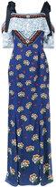 Mary Katrantzou Canasta floral print off-shoulder dress - women - Silk/Polyester - 8
