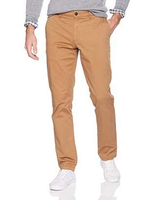 Goodthreads mens Slim-fit Washed Chino Casual trousers - red