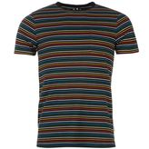 Soviet Multi Coloured Stripe T Shirt Mens