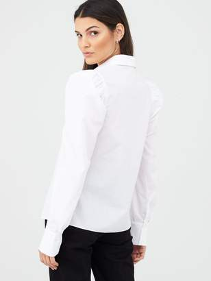Very Puff Sleeve Cotton Poplin Shirt