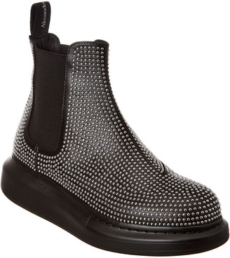Alexander McQueen Chunky Studded Leather Ankle Boot