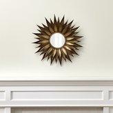 Crate & Barrel Sunflower Round Wall Mirror