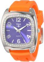 Trax Women's TR1740-NO Malibu Fun Rubber Blue Dial Crystal Watch