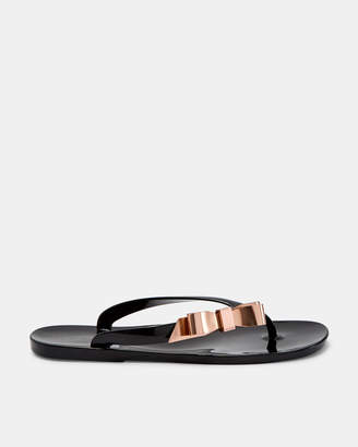 Ted Baker SUZZI Bow detail jelly flip flop