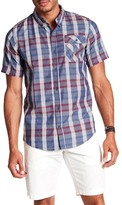 Burnside Short Sleeve Plaid Print Woven Regular Fit Shirt